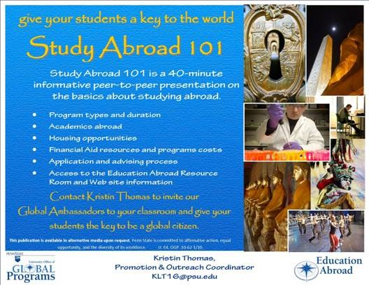 Study Abroad 101 poster image