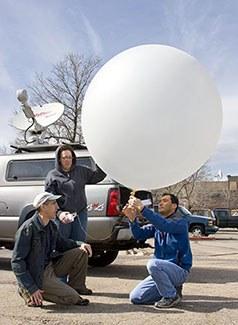 Vortex2 weather balloon launch
