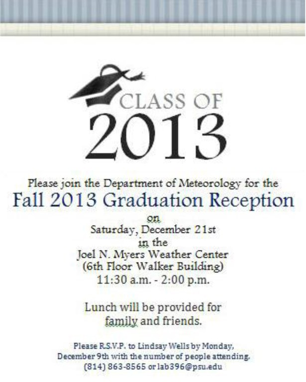 2013 December Graduation Reception