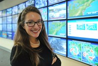 Sunny forecast: Meteorology scholar, Hailey Mitchell, predicts bright future