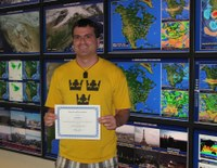 "Meteorology PhD candidate, Jared Lee, receives ""Best Overall Presentation"" award from American Meteorological Society"
