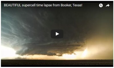 supercell time lapse from Booker, Texas!
